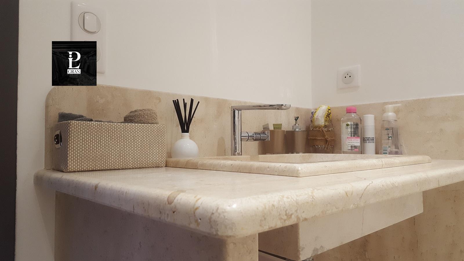 Lavabo bagno incassato in marmo Pilgran